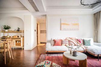 100平米四室一厅田园风格客厅图