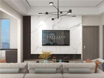 90平米三室两厅现代简约风格客厅图