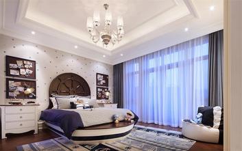110平米复式美式风格卧室壁纸效果图