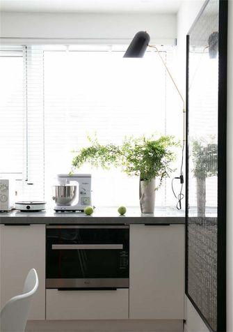 富裕型80平米三室一厅北欧风格厨房图片大全