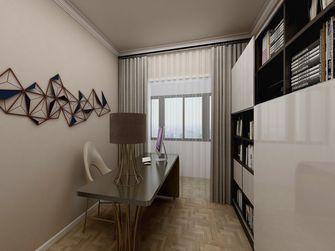 120平米三室一厅混搭风格书房图