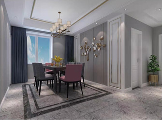 140平米三室两厅混搭风格餐厅图片