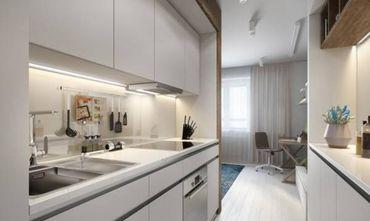 30平米超小户型现代简约风格厨房图