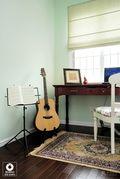 富裕型90平米三室一厅田园风格影音室图片大全