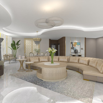 新古典风格客厅效果图