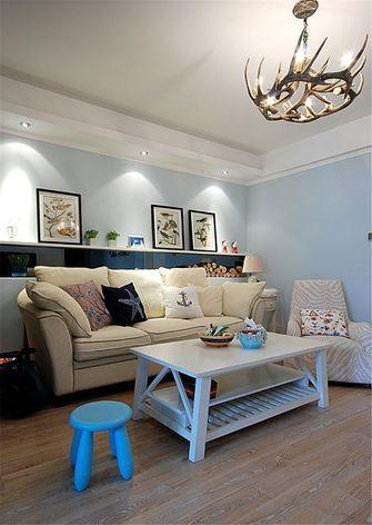 80平米一室一厅地中海风格客厅图片大全