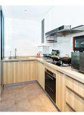 50平米一室一厅现代简约风格厨房欣赏图