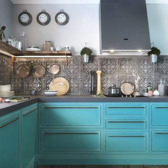 140平米四英伦风格厨房欣赏图