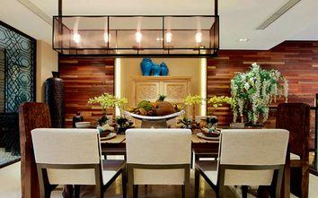 富裕型140平米四室三厅东南亚风格餐厅效果图