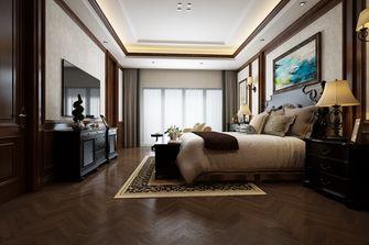 140平米别墅英伦风格卧室图片