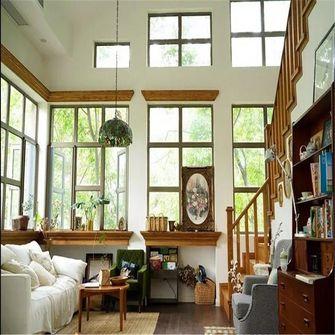 120平米复式田园风格客厅装修案例