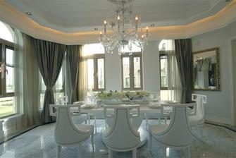 110平米三室两厅欧式风格餐厅窗帘设计图