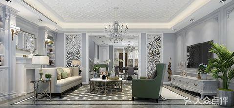 140平米三室一厅法式风格客厅装修案例