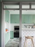 110平米三室两厅北欧风格厨房欣赏图