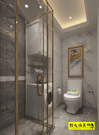 100平米一室一厅欧式风格卫生间图片大全