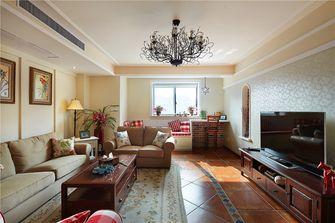 80平米一室一厅田园风格客厅装修案例