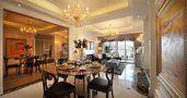 110平米三室两厅法式风格餐厅家具欣赏图