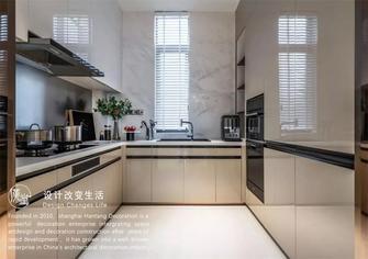140平米复式英伦风格厨房设计图