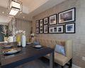 130平米三室一厅北欧风格餐厅欣赏图
