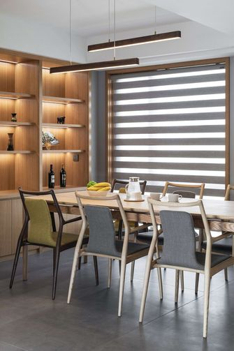 140平米复式日式风格餐厅图片