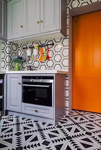 90平米三新古典风格厨房图