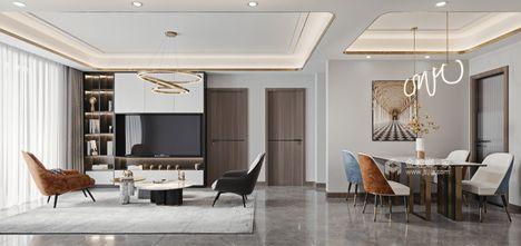 100平米新古典风格客厅装修案例