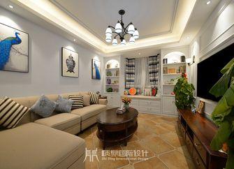 富裕型90平米三室两厅现代简约风格客厅图片大全