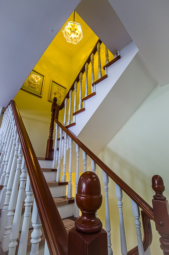20万以上140平米复式田园风格楼梯效果图