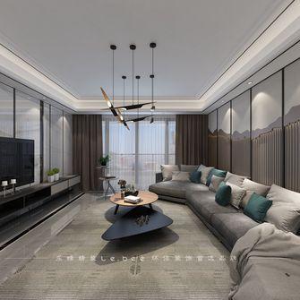 140平米四室两厅现代简约风格客厅图