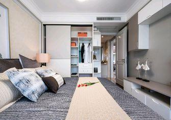 80平米三室一厅现代简约风格卧室橱柜欣赏图