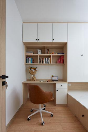 70平米三室一厅日式风格书房图
