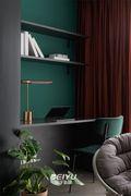80平米三室两厅混搭风格书房图片