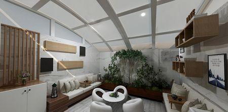 40平米小户型现代简约风格阳台图片
