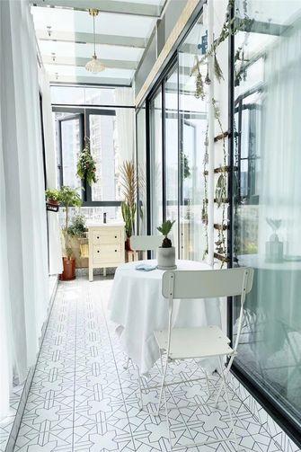 90平米三室一厅现代简约风格阳台设计图