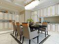 140平米三室三厅美式风格餐厅设计图
