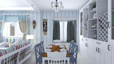 80平米公寓地中海风格餐厅图