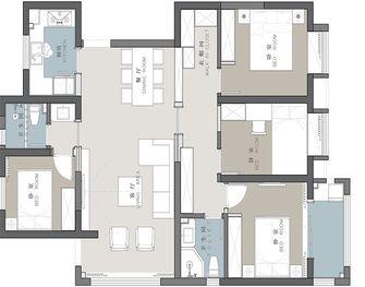 130平米三室三厅中式风格其他区域设计图