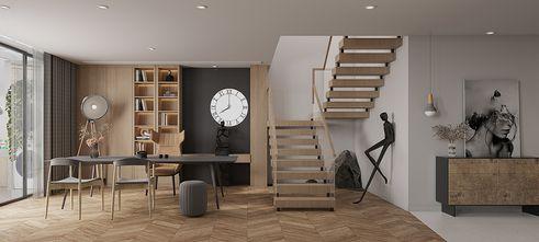 140平米三室两厅日式风格楼梯间效果图