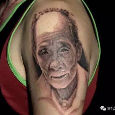 写实肖像纹身款式图