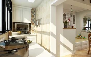 90平米田园风格厨房装修图片大全