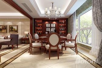 140平米三室两厅新古典风格餐厅效果图