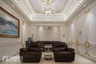 20万以上140平米别墅法式风格影音室设计图