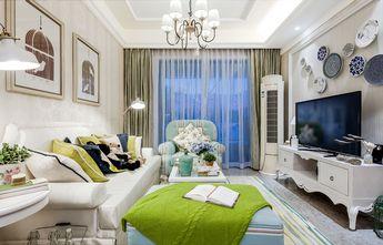 富裕型90平米三室两厅田园风格客厅设计图