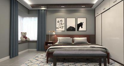 80平米一居室现代简约风格卧室装修效果图