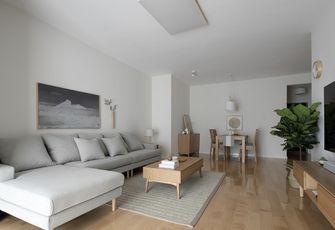 90平米三室三厅日式风格客厅装修效果图
