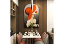 50平米公寓现代简约风格餐厅装修效果图