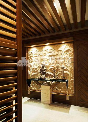 富裕型140平米三室两厅东南亚风格玄关设计图
