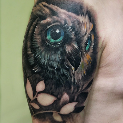 猫头鹰纹身款式图