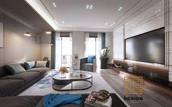 豪华型140平米三现代简约风格客厅装修图片大全