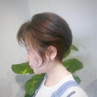 短发色彩效果图
